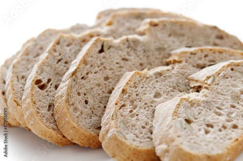 Fotografie, Obraz  パン スライス カボチャの種