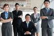 Confident business team