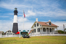 American Flag By Tybee Lighthouse