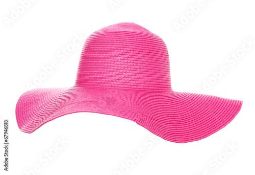 Obraz Summer beach hat isolated on white background - fototapety do salonu