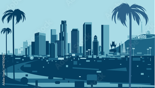 Photo  Los Angeles Skyline