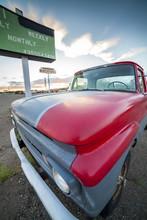 Old Pickup In Natural Environm...