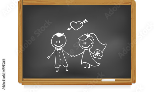 Tableau D Ecole Mariage Buy This Stock Vector And Explore