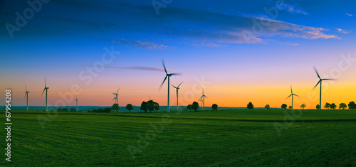 Fototapeta Wind farm on Kashubian - Poland obraz
