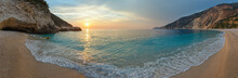 Sunset On Myrtos Beach (Greece...