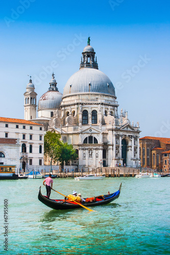 Canvas Prints Venice Traditional Gondola on Canal Grande in Venice, Italy
