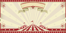 Circus Red Invitation