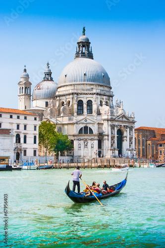 Canvas Prints Venice Gondola on Canal Grande with Santa Maria della Salute, Venice