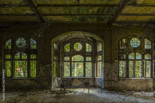 Photo Stands Old Hospital Beelitz Beelitz Heilstätten