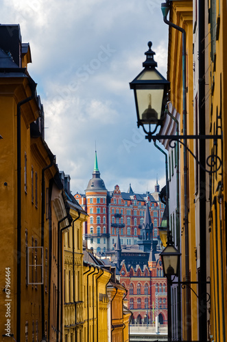 Photo  View of Stockholm - old town (Gamla stan)