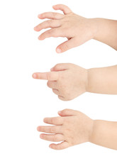 Baby Hands Isolated On White B...