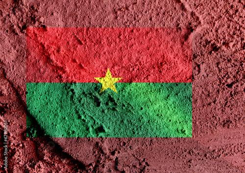 Fototapete - Burkina Faso flag themes idea design