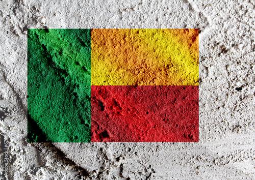 Fototapete - Benin flag themes idea design