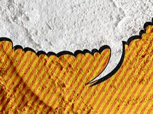 Speech Bubble Pop Art On Cemen...
