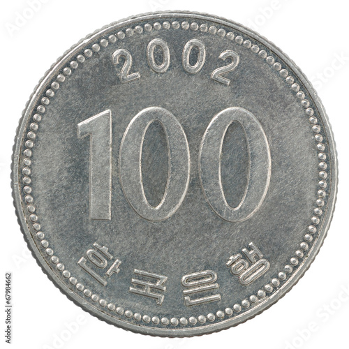 Tela  korean wons coin