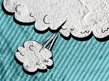 Speech Bubble Pop Art On Cement Wall Texture Background Design