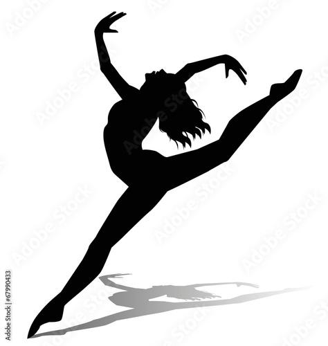 Fotografie, Obraz  silhouette di ballerina