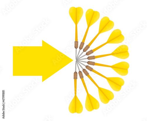 Photo sur Toile Empreintes Graphiques Business target concept, aims, objectives. Darts and arrow