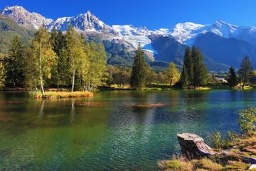 Fototapeta Góry Lake with cold water