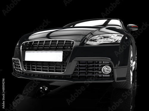 Fast Car Jet Black Headlights Shot Buy This Stock Illustration