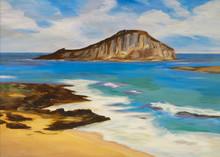 Painting, Chinaman's Hat Island, Oahu, Hawaii