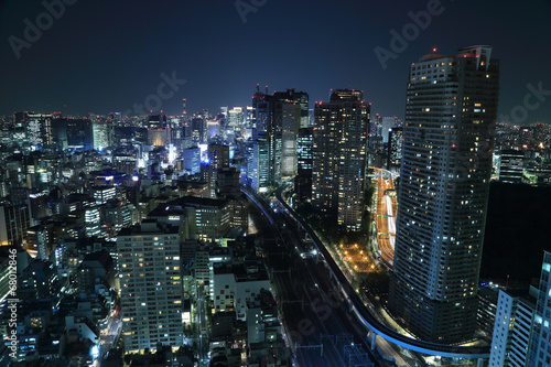 Plakát  Tokyo cityscape at night