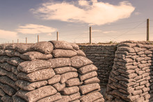 Trenches Of World War One Sand...