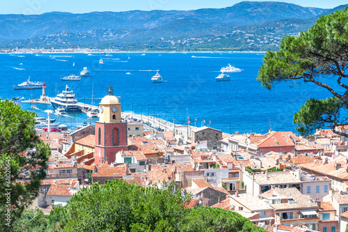 Valokuva Panoramic view of the bay of Saint-Tropez, France