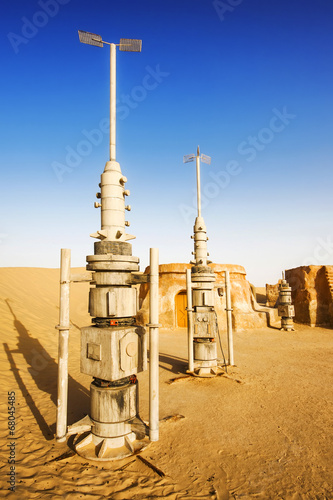 "Abandoned decoration from film ""Star Wars"" (Tatooine planet) Poster"