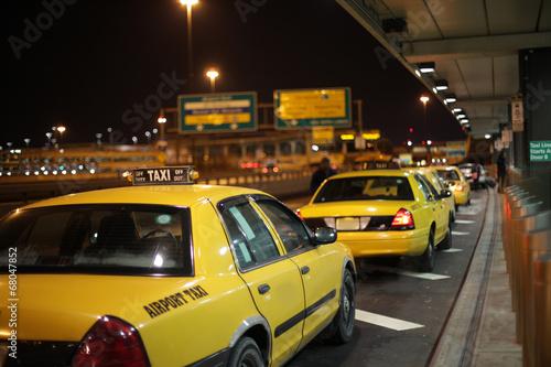 Fotografie, Obraz  Airport Taxi Lineup