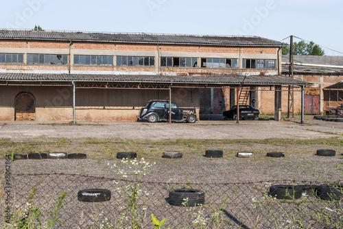 Papiers peints Les vieux bâtiments abandonnés Abandoned factory