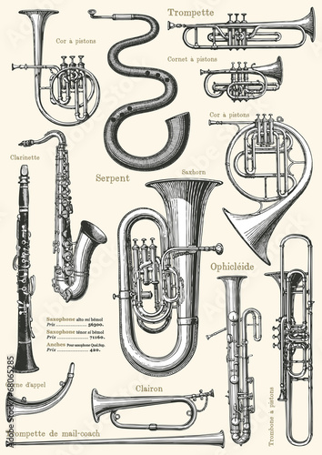 Fotomural French music poster