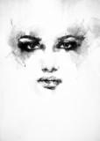 Piękna twarz kobiety. akwarela ilustracja - 68067844
