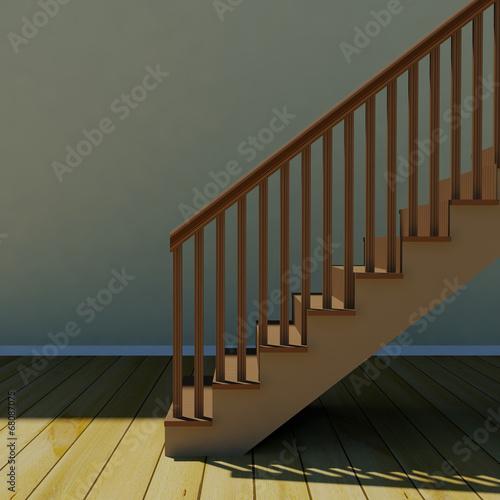 Fototapeta Interior with stair obraz na płótnie
