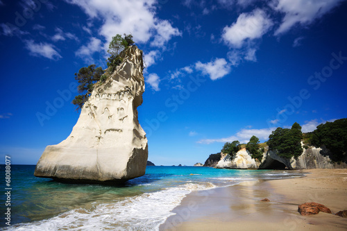 Spoed Foto op Canvas Cathedral Cove Cathedral Cove on Coromandel Peninsula, North Island, NZ