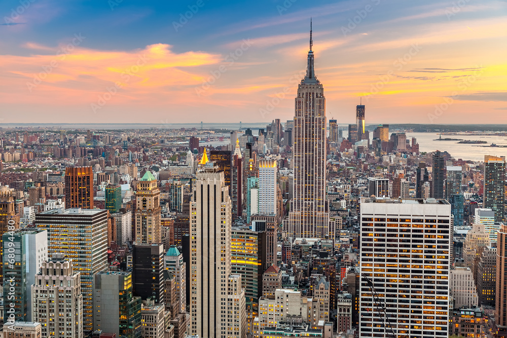 Fototapety, obrazy: Manhattan aerial view