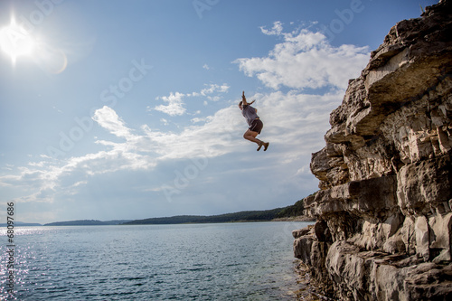 Fotografie, Obraz  Cliff Jumping
