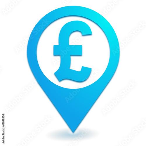 Livre Sterling Sur Symbole Localisation Bleu Buy This