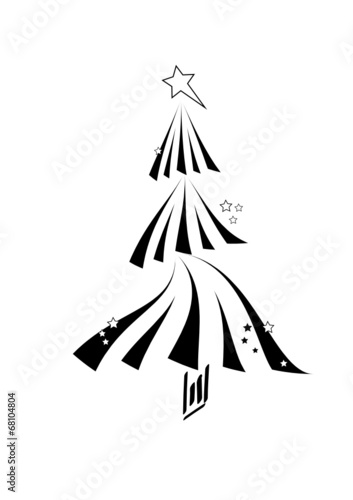 Schwarzer Weihnachtsbaum.Schwarzer Weihnachtsbaum Buy This Stock Vector And Explore