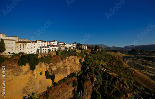 Poster Magnificent view from the New Bridge of Ronda in Andalusia Spain