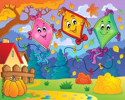 Canvas Prints Dinosaurs Kites theme image 9
