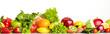 Leinwandbild Motiv Fruit and vegetable borders