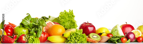 Poster Fresh vegetables Fruit and vegetable borders