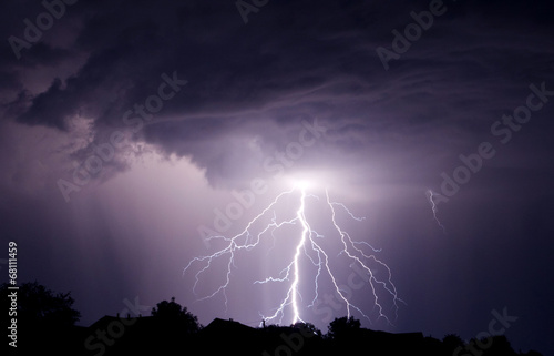Staande foto Onweer Lightning