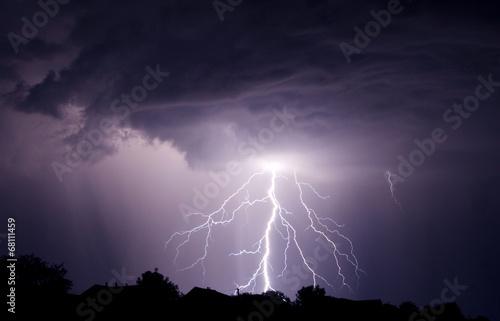 Foto op Aluminium Onweer Lightning