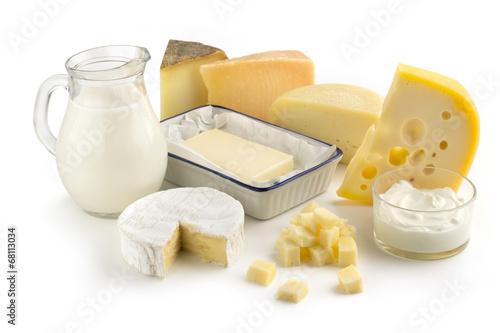 Fotografía  Surtido de productos lácteos