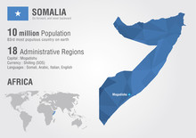 Somalia World Map With A Pixel...