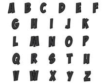 Custom Black Alphabet