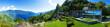 Leinwanddruck Bild - Panoramic view of villa