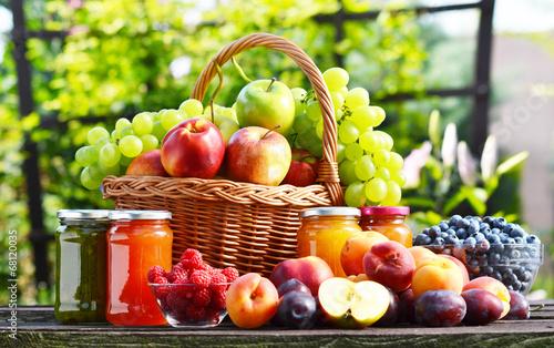Fruits Fresh ripe organic fruits in the garden. Balanced diet